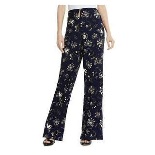 Vince Camuto Womens Casual Pants Satin Floral Print