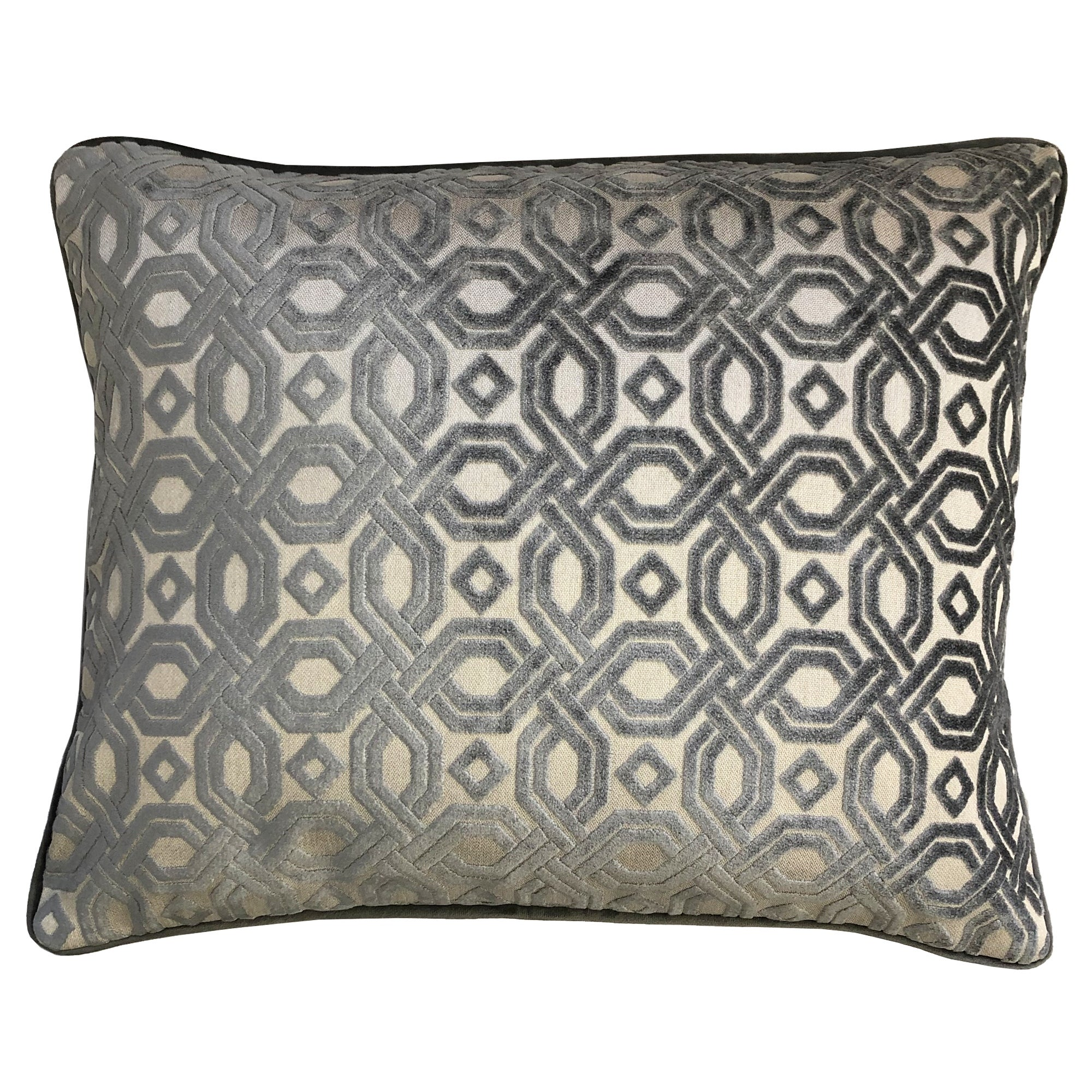 Rodeo Home Zachary Decorative Geometric Chenille Throw Pillow Overstock 32363473