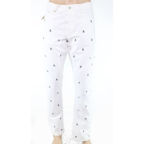 Polo Ralph Lauren Men's Jeans White Blue Size 32X30 Straight Leg