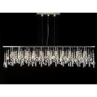 Modern Contemporary Broadway Linear Crystal Chandelier Lighting Lamp H28 x W48