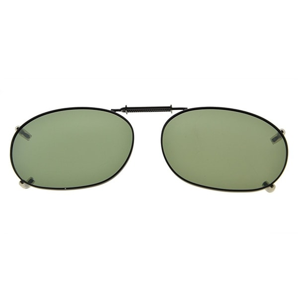 268a7a0a11 Eyekepper Metal Frame Rim Polarized Lens Clip On Sunglasses 52x35MM G15 Lens