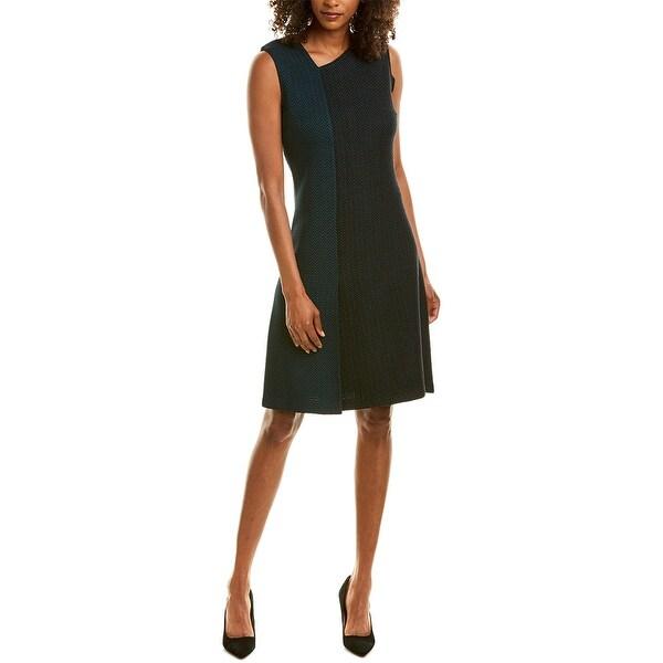St. John Wool-Blend A-Line Dress. Opens flyout.