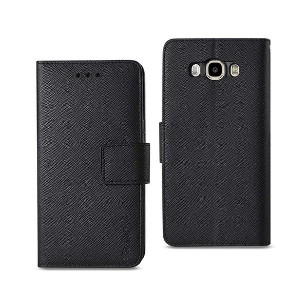 REIKO SAMSUNG GALAXY J7 (2016) 3-IN-1 WALLET CASE IN BLACK