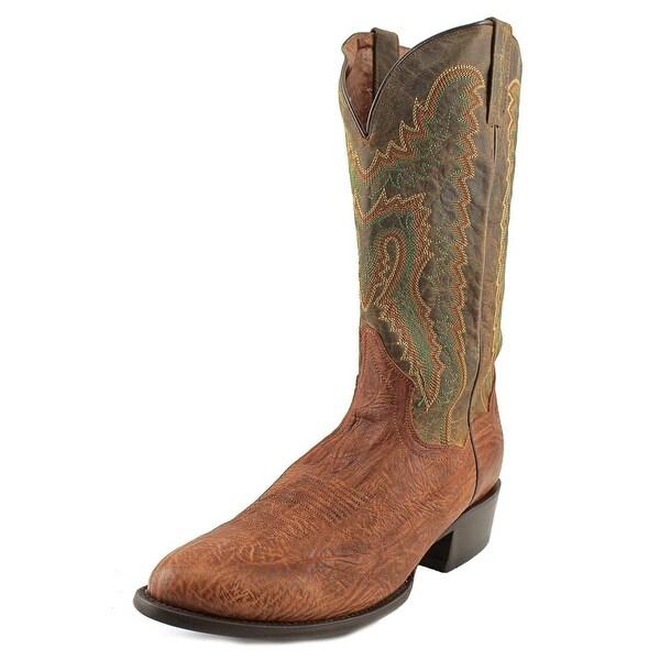 Dan Post Shrunk EW Round Toe Leather Western Boot
