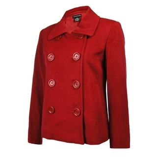 Sutton Studio Womens 100% Cashmere Peacoat Jacket - Claret - 16W