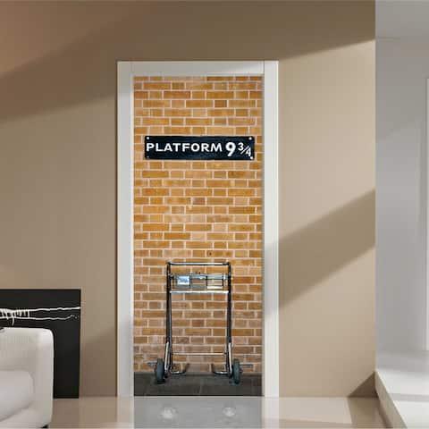 Walplus Kings Cross Platform 9.75 Door Mural Sticker Home Decor DIY