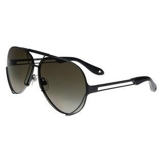 Givenchy GV7014/S 003 ND Matte Black Aviator Sunglasses - no size