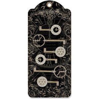"""Staples Metal Clock Keys 6/Pkg-Shabby Chic 2""""X1"""" To 3""""X1.125"""""""