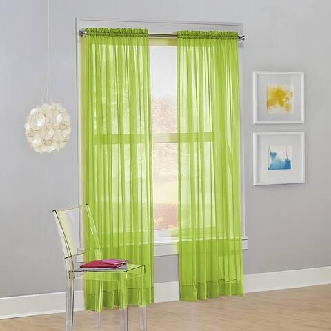 No. 918 Calypso Voile Sheer Rod Pocket Curtain Panel, Single Panel