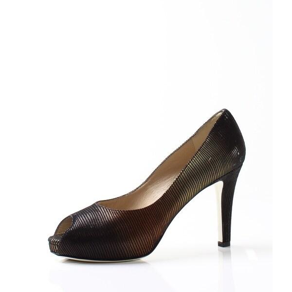 Ron White NEW Black Women's Shoes Size 8M Bonnie Open Toe Pump