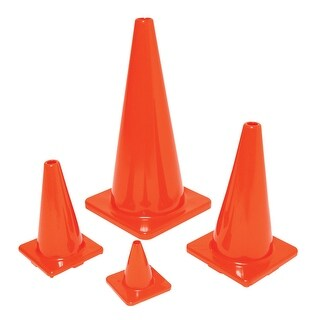 Poly Enterprises 6 Inch Classic Game Cone, Orange