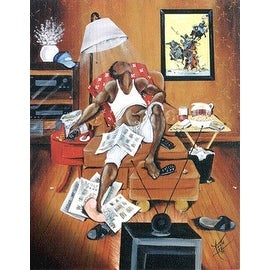 ''In Control'' by Annie Lee African American Art Print (24.25 x 21 in.)