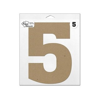 "Chipboard Number 11"" 5 1pc Natural"