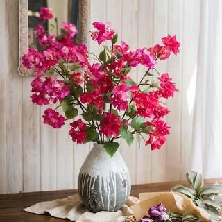 "RusticReach Artificial Flower Bougainvillea Flower Stem 34"" Tall"