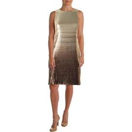 Halston Heritage Womens Sequined Ombre Cocktail Dress - L