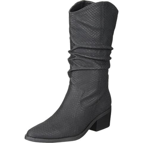 Dolce Vita Womens Zelie Cowboy, Western Boots Casual Textured