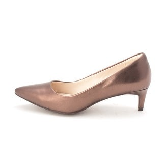 Cole Haan Womens 15A4177 Pointed Toe Classic Pumps Bronze Size 6.0
