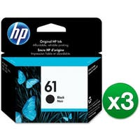 HP 61 Black Original Ink Cartridge (3-Pack) Ink Cartridge
