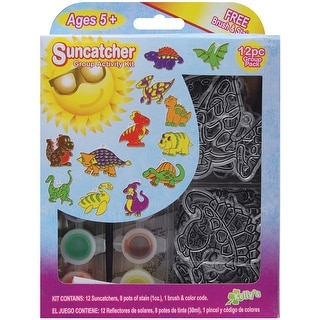 Suncatcher Group Activity Kit-Dinosaurs 12/Pkg