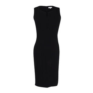 Calvin Klein Women's Seamed Sleeveless Sheath Dress (Black, 6) - 6