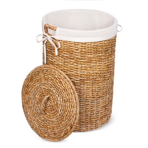 BirdRock Home Seagrass Laundry Hamper with Liner