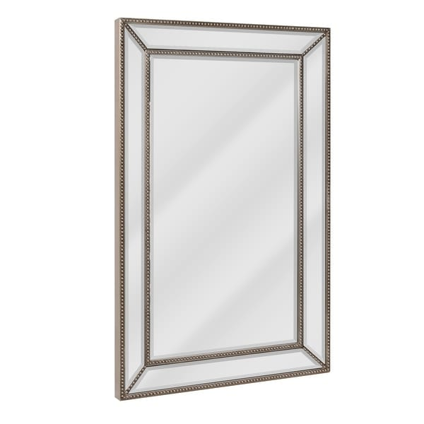 Head West Metro Beaded Wall Mirror - Silver/Champagne - 20 x 32 - 20 x 32. Opens flyout.