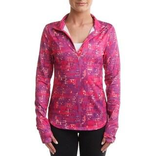 Reebok Womens Typetoken 1/4 Zip Jacket Yoga Fitness