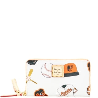Dooney & Bourke MLB Orioles Zip Around Phone Wristlet (Introduced by Dooney & Bourke at $118 in Mar 2016) - White