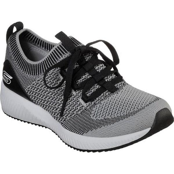 042aa0dabc5 Shop Skechers Women s BOBS Sport Squad Alpha Gal Sneaker Gray Black ...