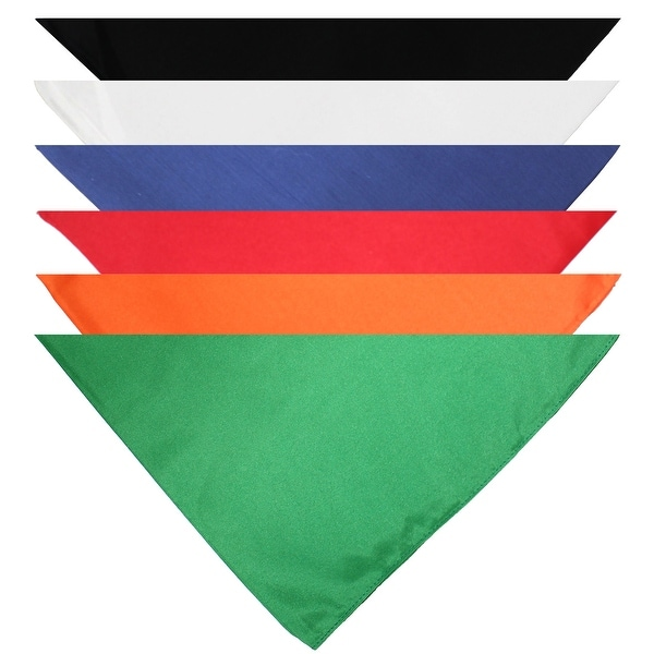 Mechaly Triangle Plain Cotton Bandanas - 7 Pack - Kerchiefs and Head - One Size. Opens flyout.