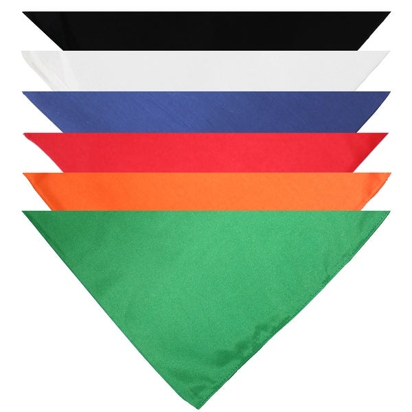 Pack of 7 Triangle Cotton Bandanas - Solid Colors and Polyester - 30 - One Size. Opens flyout.
