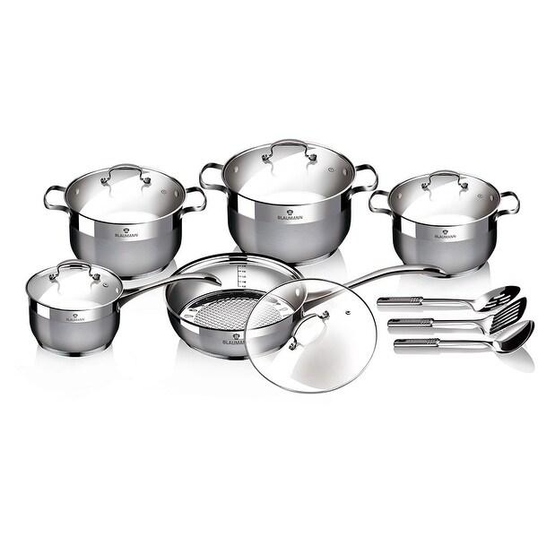 Blaumann 13-Piece Satin Finish Cookware Set. Opens flyout.