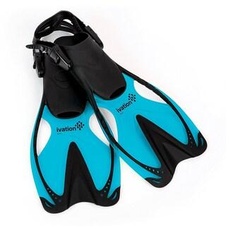 Ivation Kids Swim Fins - Adjustable Speed Fins, Super-soft, for Diving, Snorkeling, Swimming & Water Sports (L/G) (Option: Light)
