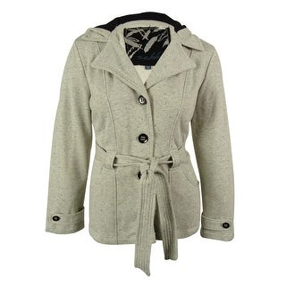 Sebby Women's Hooded Belted Coat - xxl