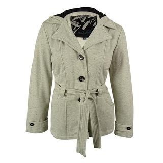 Sebby Women's Hooded Belted Coat - XxL