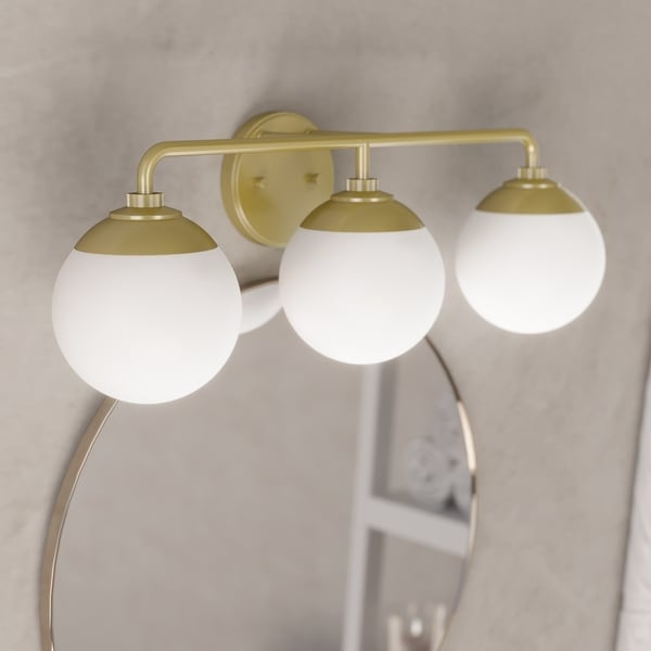 Hunter Hepburn 3 Light Vanity Wall Light. Opens flyout.