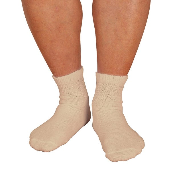 Unisex-Adult Non Binding Diabetic Friendly Quarter Crew Socks