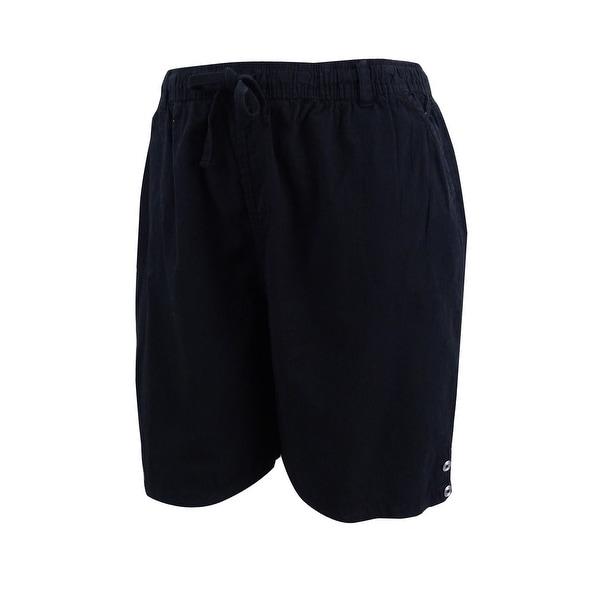 c8e6da0935 Shop Karen Scott Women's Lisa Pull-On Cotton Shorts (L, Deep Black) - Deep  Black - L - Free Shipping On Orders Over $45 - Overstock - 22992421
