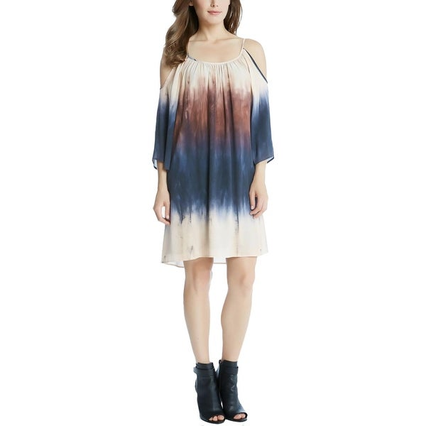52decce51e Shop Karen Kane Womens Casual Dress Tie-Dye Cold-Shoulder - Free Shipping  On Orders Over  45 - Overstock - 21651795