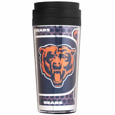 Chicago Bears 16oz Acrylic Travel Tumbler with Metallic Insert