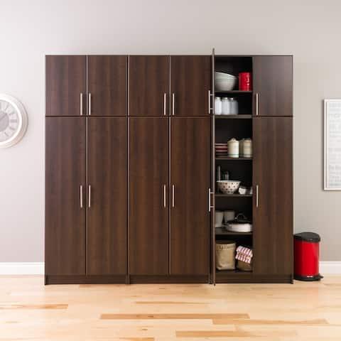 "Prepac Elite Storage Cabinet Set D - 6 pc - 96"" W x 89"" H x 16"" D - 96"" W x 89"" H x 16"" D"