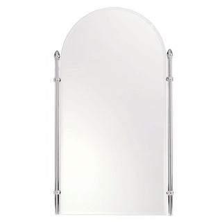 "Ginger 1541 Cantebury 20.4"" Arched Mirror with Beveled Edge and Frame"