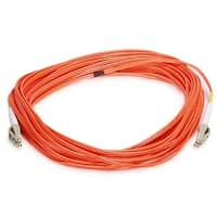 Monoprice Fiber Optic Cable - LC to LC, OM1, 62.5/125 Type, Multi Mode, Duplex, Orange, 10m