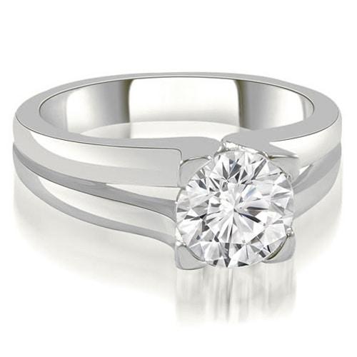 0.50 cttw. 14K White Gold Thick Split Shank Round Diamond Engagement Ring