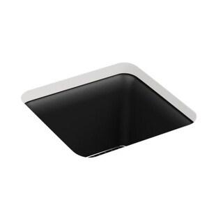 "Kohler K-8223 Cairn 15-1/2"" Single Basin Neoroc Bar Sink for Undermount Installation with Basin Rack Included"