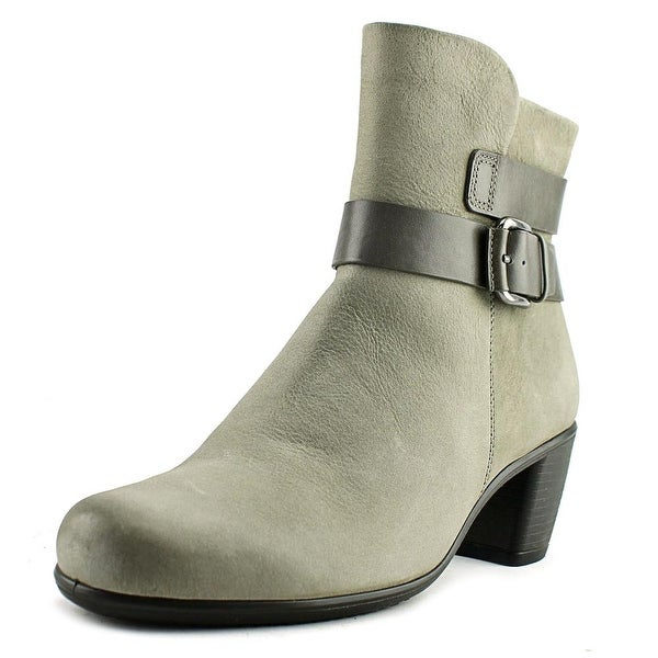 Ecco Touch 55 Women Round Toe Leather Gray Mid Calf Boot