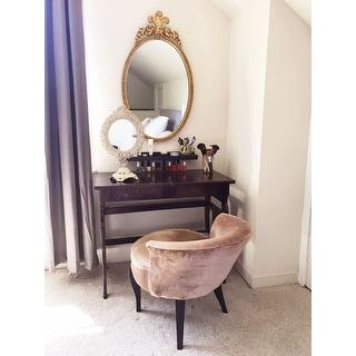 "Safavieh Mora Mink Brown Vanity Chair - 23.4"" x 24.8"" x 22.4"""