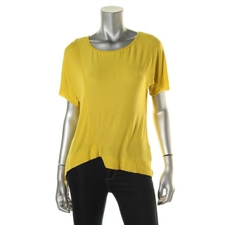 Zara W&B Collection Womens Hi-Low Short Sleeves Pullover Top - M