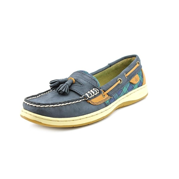 Sperry Top Sider Tasselfish Women Moc Toe Leather Blue Boat Shoe