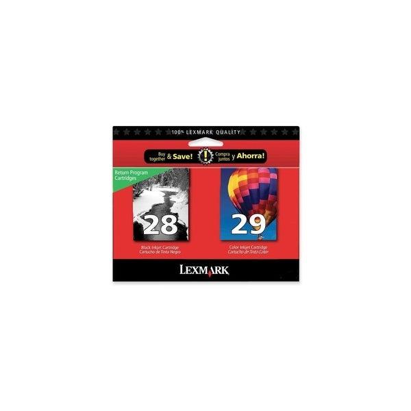 Lexmark 18C1590 Lexmark No.28/29 Black and Color Ink Cartridge - Assorted, Color - Inkjet - 175 Page - 2 / Pack